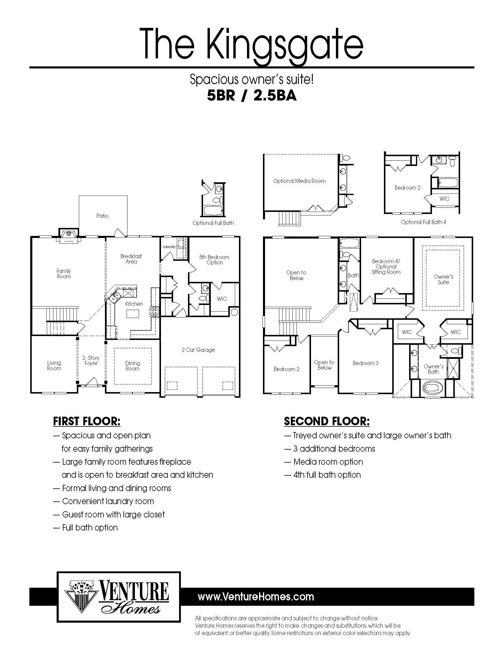 Retreat at Eagle Rock New Homes in Acworth GA by Venture Homes – Venture Homes Floor Plans