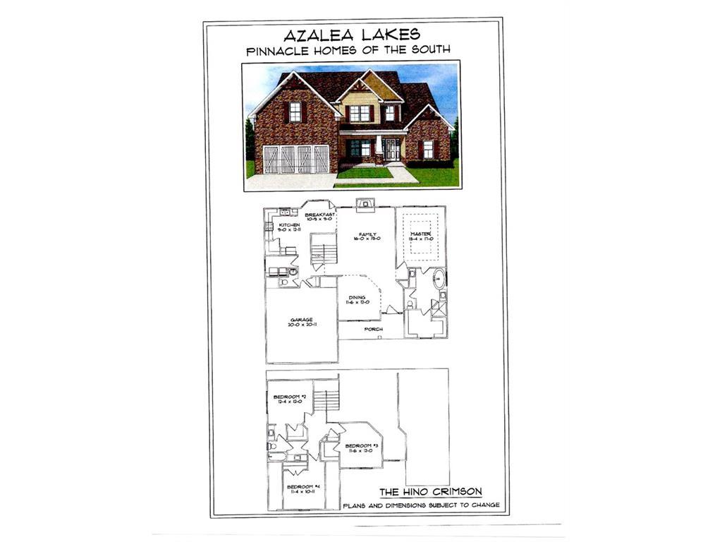 Azalea Lakes New Homes in Dallas GA by Pinnacle Homes – Pinnacle Homes Floor Plans